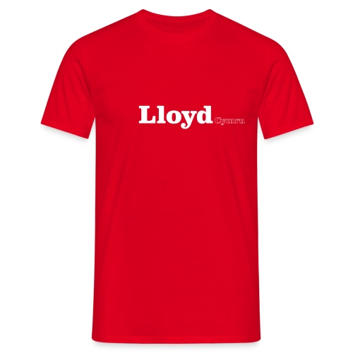 Lloyd Cymru white text - Men's T-Shirt