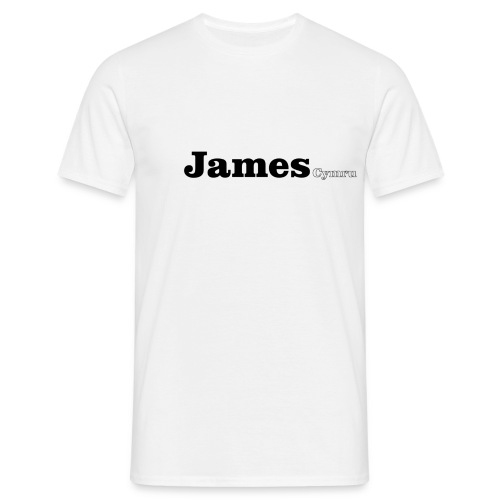 James Cymru black text - Men's T-Shirt