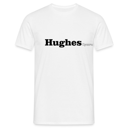 Hughes Cymru black text - Men's T-Shirt