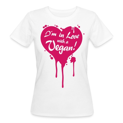Womens - I'm in Love with a Vegan! - Flock! - Frauen Bio-T-Shirt