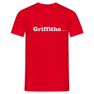 Griffiths Cymru white text - Men's T-Shirt