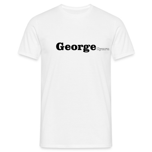 George Cymru black text - Men's T-Shirt