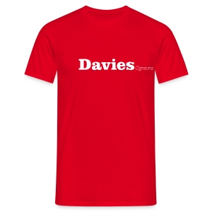 Davies Cymru white text - Men's T-Shirt