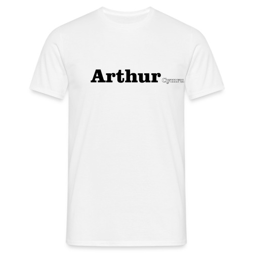 Arthur Cymru black text - Men's T-Shirt