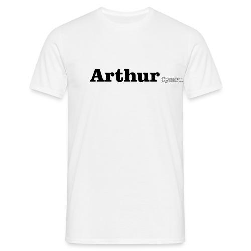 Arthur Cymru black text - Men's T-Shirt