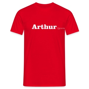 Arthur Cymru white text - Men's T-Shirt