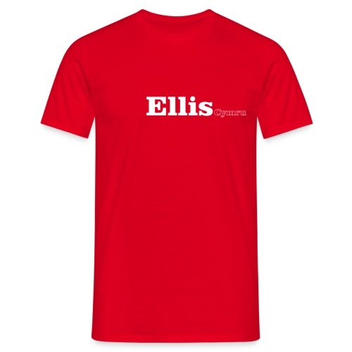 Ellis Cymru white text - Men's T-Shirt