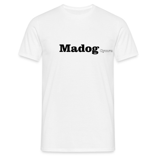 Madog Cymru black text - Men's T-Shirt