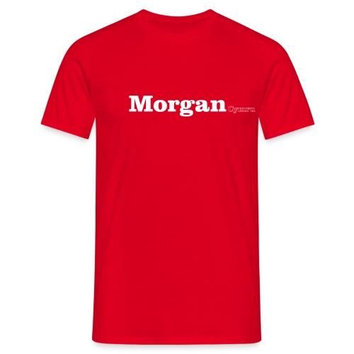 Morgan Cymru white text - Men's T-Shirt