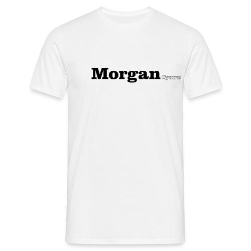 Morgan Cymru black text - Men's T-Shirt
