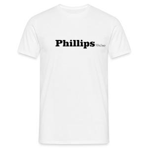 Phillips Wales black text - Men's T-Shirt