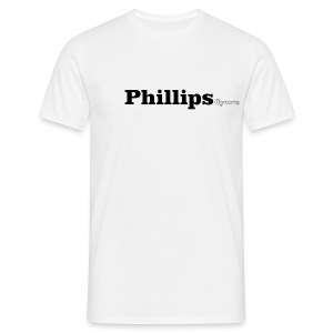 Phillips Cymru black text - Men's T-Shirt