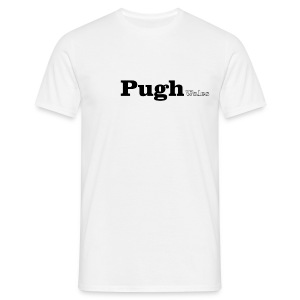 Pugh Wales black text - Men's T-Shirt