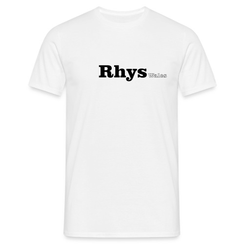 Rhys Wales  black text - Men's T-Shirt