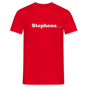 Stephens Cymru white text - Men's T-Shirt
