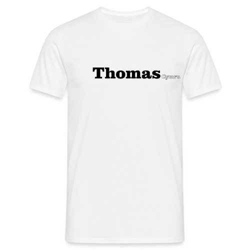 Thomas Cymru black text - Men's T-Shirt