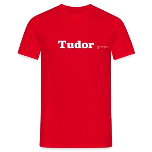 Tudor Cymru white text - Men's T-Shirt
