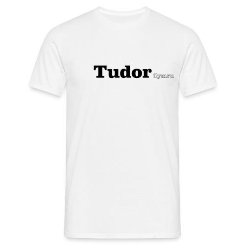 Tudor Cymru black text - Men's T-Shirt