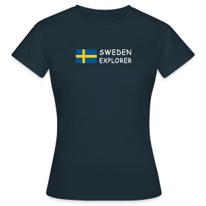 Women's T-Shirt SWEDEN EXPLORER white-lettered - Women's T-Shirt