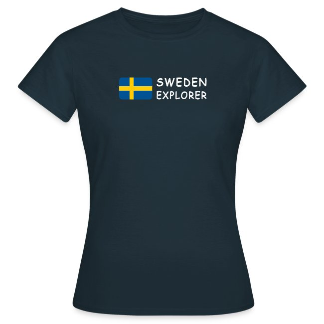 Women's T-Shirt SWEDEN EXPLORER white-lettered