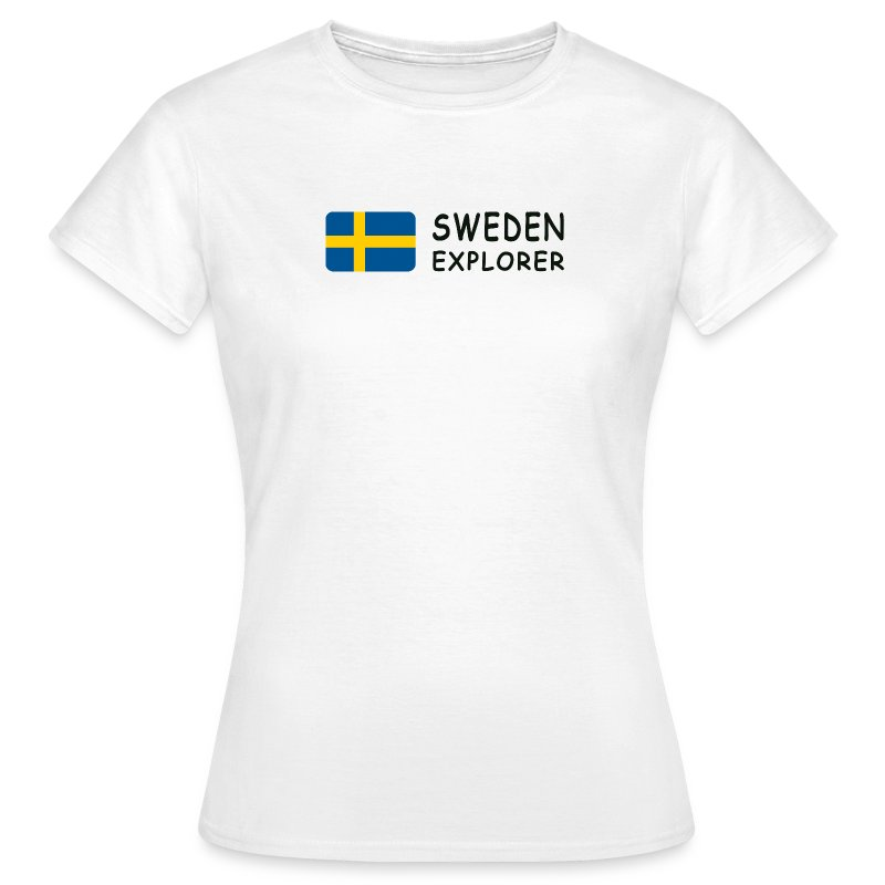 Women's T-Shirt SWEDEN EXPLORER black-lettered - Women's T-Shirt
