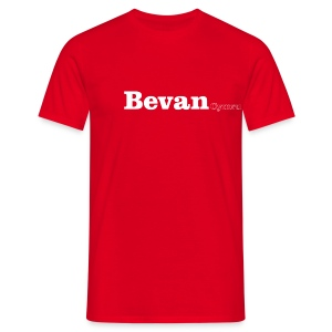 Bevan Cymru white text - Men's T-Shirt