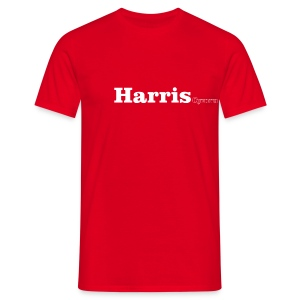 Harris Cymru white text - Men's T-Shirt