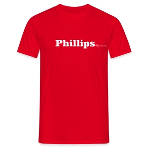 Phillips Cymru white text - Men's T-Shirt