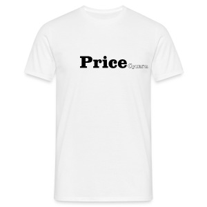 Price Cymru black text - Men's T-Shirt