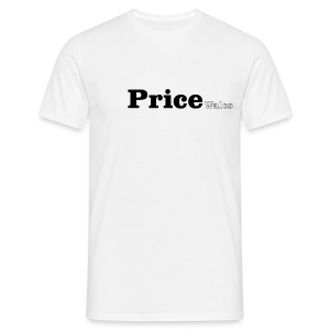 Price Wales black text - Men's T-Shirt