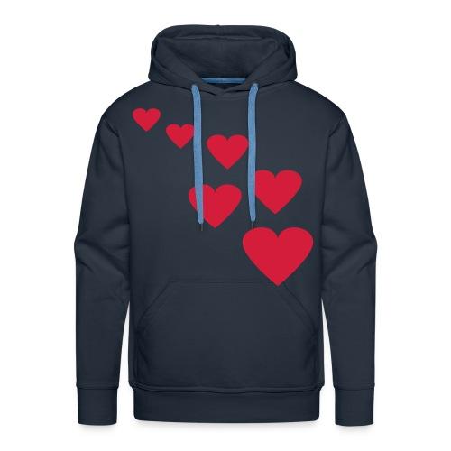 hearts hoody  - Men's Premium Hoodie