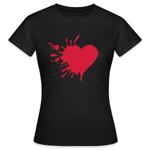 heart skinny fit tee  - Women's T-Shirt