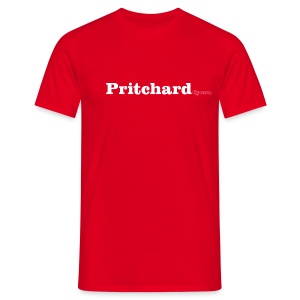 Pritchard Cymru white text - Men's T-Shirt