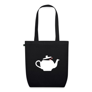 Teabag black/white/pink - EarthPositive Tote Bag
