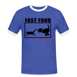 FAST FOOD TEE - Men's Ringer Shirt