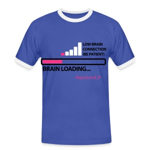 BRAIN LOADING... TEE - Men's Ringer Shirt