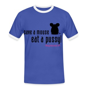 SAVE A MOUSE TEE - Men's Ringer Shirt