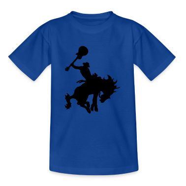 Guitar Hero rodeo cowboy on horseback, horse Kids' Shirts