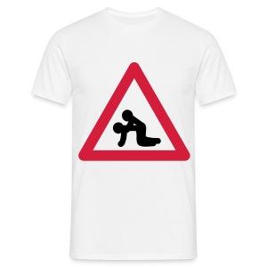 Verkehrstafel Popper - Männer T-Shirt