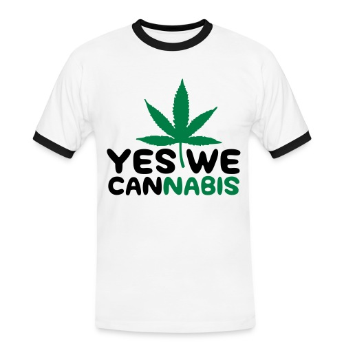 Yes we Cannabis - Männer Kontrast-T-Shirt