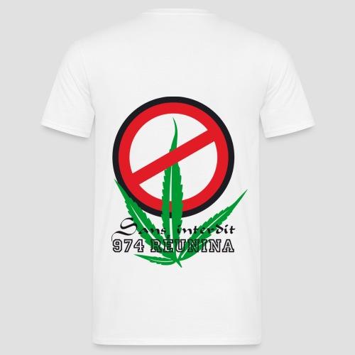 Tee shirt classique Homme  Sans Interdit - Réunion - T-shirt Homme