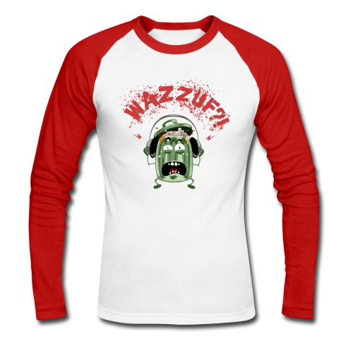 Wazzuff j'ai froid-froid aux bras-bras - T-shirt baseball manches longues Homme