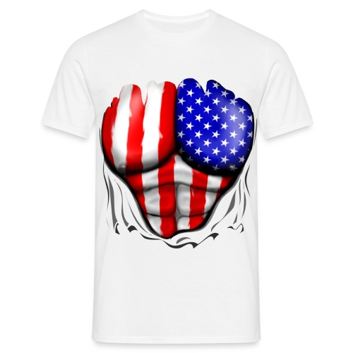 USA Ripped - Men's T-Shirt
