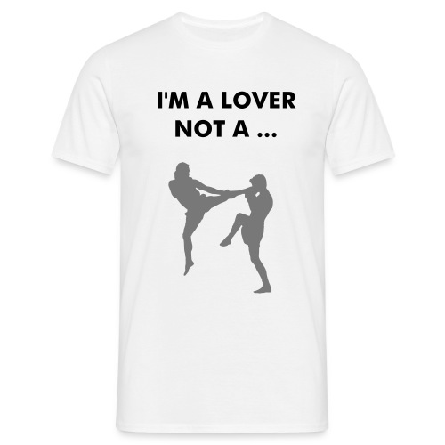 I'm a lover not a fighter - Mannen T-shirt