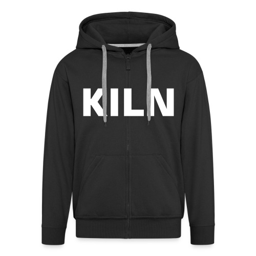 KILN Black Zip Front Hood - Men's Premium Hooded Jacket