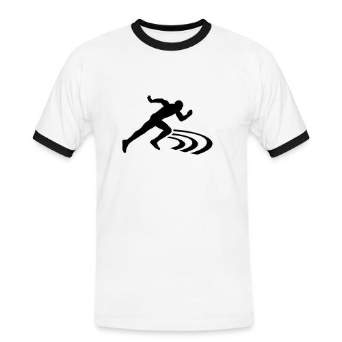 Men Slim Contrast - Männer Kontrast-T-Shirt