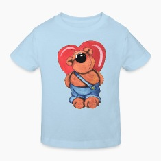 The bear has a big heart Kids' Shirts