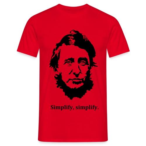 Men's Simplify Simplify Thoreau - Men's T-Shirt