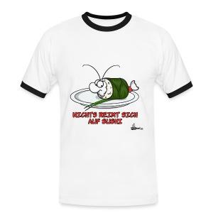 Nichts reimt sich auf Sushi - Männer Kontrast-T-Shirt