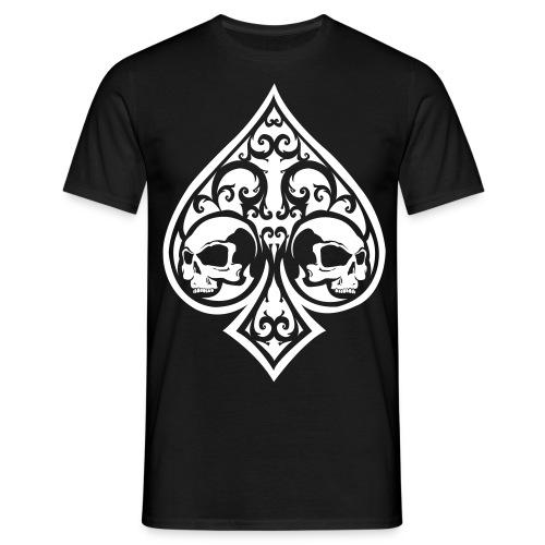 Ace of Spades Men's shirt - black/white - Men's T-Shirt